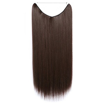 Dayiss Womens 55cm Straight Silky Hairpieces Elastic Rubber Band Hair Extensions