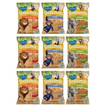 Barbara's Snackimals Animal Cookies 3 Flavor 9 Bag Variety Bundle: (3) Oatmeal Snackimals, (3) Chocolate Chip Snackimals, and (3) Vanilla Snackimals, 2.125 Oz. Ea. (9 Two-Serving Bags Total)