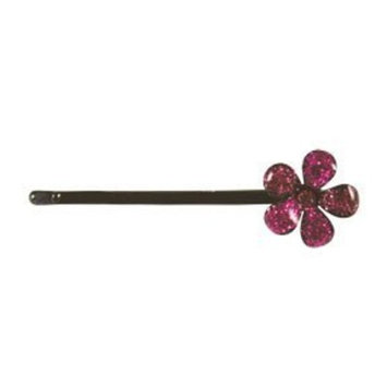 Smoothies Glitter Flower Bob Pin-Pink 01322