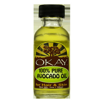 Okay 100% Pure Avocado Oil For Hair and Skin, 1 Oz