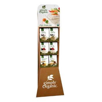 Simply Organic 15820 72 Count New Dips & Sauces Seasoning Mix Shipper