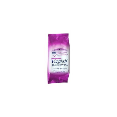 Vagisil Anti-Itch Medicated Wipes 20.0 sh. (Quantity of 4)