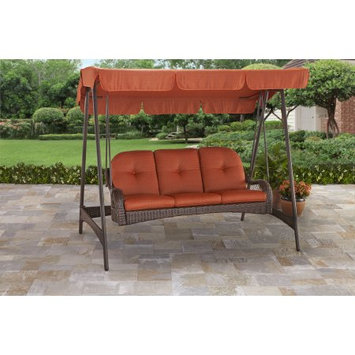 Better Homes and Gardens Azalea Ridge 3-Person Woven Swing with Canopy