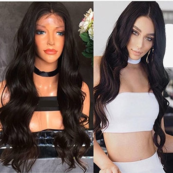 Wicca Human Hair Loose Body Wave Lace front wigs Guless Brazilian Virgin Hair Body Wave Human hair wig With Baby Hair Bleach Knots (20inch, Lace front wig)