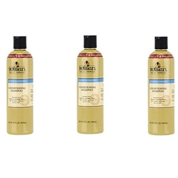 [VALUE PACK OF 3] DR. MIRACLE'S CLEANSE & CONDITIONS CONDITIONING SHAMPOO 12oz: Beauty