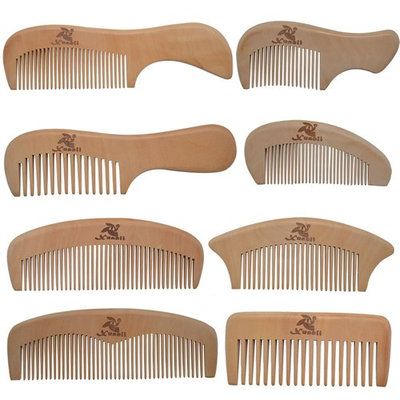 Xuanli 8 Pcs The Family Of Hair Comb - Wood with Anti-Static & No Snag Handmade Brush for Beard, Head Hair, Mustache With Gift Box