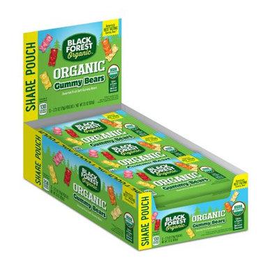 Ferrara Candy Company Black Forest Organic Gummy Bears Candy, 2.75 Ounce Bag, Pack of 12