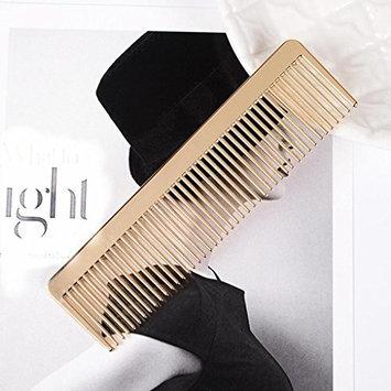 Huphoon Metal Comb Professional Hairdressing Brush Gold Decoration for Barber Men Women
