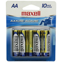 Maxell 723410 Alkaline Battery AA Cell 10-Pack [AA 10 pk]