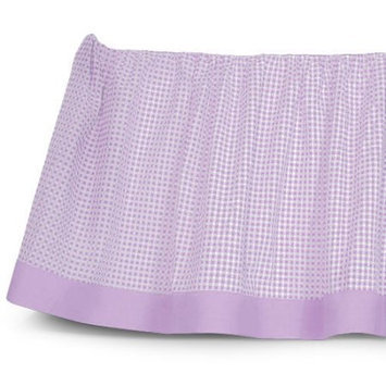 Sleeping Partners Tadpoles Classic Gingham Crib Skirt Color: Lavender