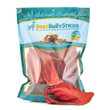 Best Bully Sticks 100% Natural Whole Buffalo Ear Smoked Treats for Dogs Thick Cut, Long-lasting, Fully Digestible Dog Treat & Dental Chew (20 Count Value Pack)