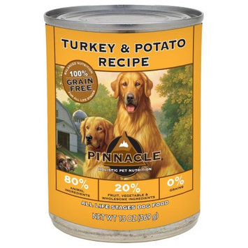Pinnacle Grain Free Turkey & Potato Recipe Canned Dog Food 12/13-oz cans