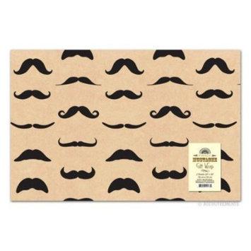 Mustache Gift Wrap