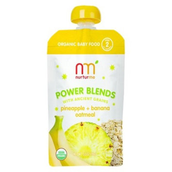 NurturMe Stage 2 Power Blends Pineapple, Banana and Oatmeal Organic Baby Food - 3.5 Ounce Pouch