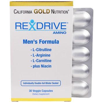 California Gold Nutrition, Rexdrive Amino, Men's Formula, 30 Veggie Caps