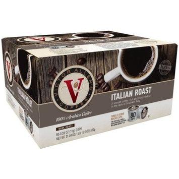Victor Allen's Coffee Dark Italian Roast Single Serve Brew Cups, 0.39 oz, 80 count