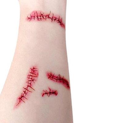 Coerni Premium Halloween Horror Bloodstains Scar Tattoos on SALE