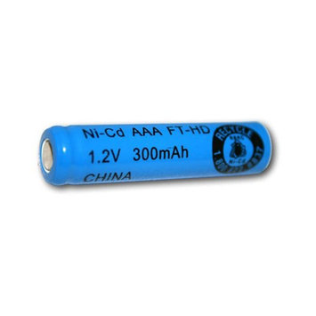 Exell 1.2V 300mAh NiCD AAA Rechargeable Battery Flat Top Cell FAST USA SHIP