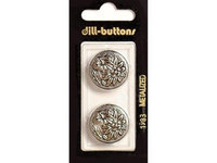 Dill Buttons 23mm 2pc Shank Antique Silver
