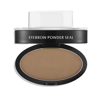 Natural Eyebrow Powder Make Up Stamp Palette Delicated Shadow Definition Kit Light Brown