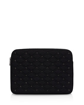 Rebecca Minkoff Quilted Stud Laptop Sleeve