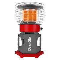 Dyna-glo 18K BTU HeatAround360 Elite Portable Propane Heater in Red, Red/Grey