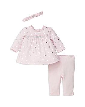 Little Me 3-Pc. Heart-Print Tunic, Leggings & Headband Set, Baby Girls (0-24 months)