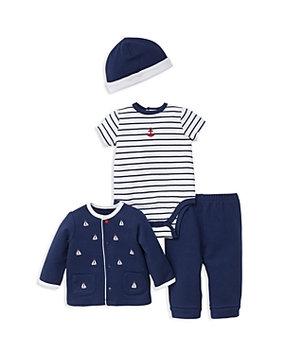 Little Me 4-Pc. Cotton Jacket, Bodysuit, Pants & Hat Set, Baby Boys (0-24 months)
