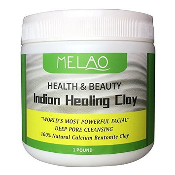 Vaiolab Indian Healing Bentonite Detox Clay, 100% Natural Powder, Face, Body & Hair Mask, Deep Pore Cleansing, Removes Toxins, Melao by Vaiolab (1 Pack)