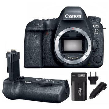 Focus Camera Canon EOS 6D Mark II DSLR Camera Body & BG-E21 Battery Grip + Battery & Charger