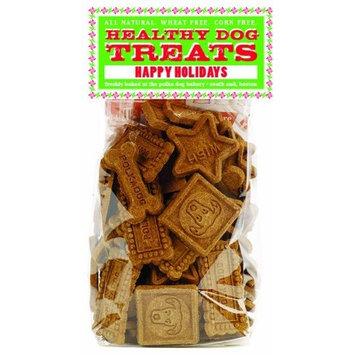 Polka Dog Bakery Happy Holidays Cello Bag, Gingerbread Dog Treats, 8oz