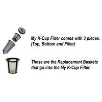 Refillable Basket My K-cup Replacement Reusable Coffee Filter for Keurig 2-Packs