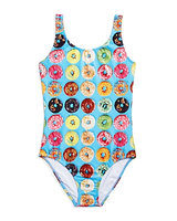 Terez Girls' Donut Print Swimsuit - Little Kid, Big Kid