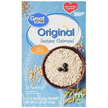 Kosher Heart Healthy Instant Oatmeal, Original, 11.85 Oz, 12 Ct 2 Pack