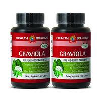 Antioxidant - GRAVIOLA EXTRACT 650 Mg - Graviola pure - 2 Bottles 200 Capsules