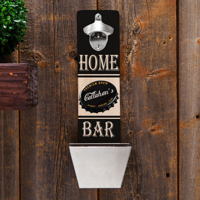 Personalized Wall-Mounted Bottle Opener - Home Bar
