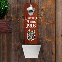 Personalized Wall-Mounted Bottle Opener - Arm's Pub