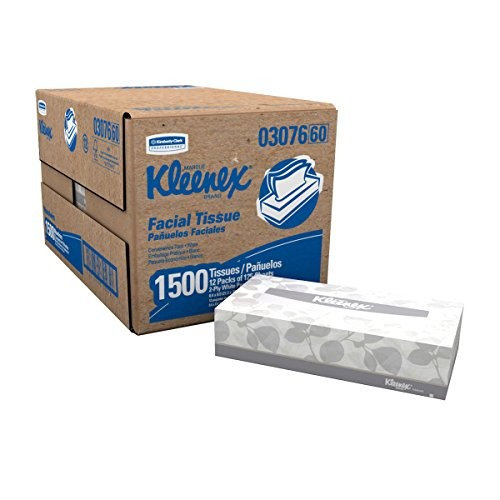 Kleenex Facial Tissue (03076) EcTJjV, Flat Tissue Boxes, (125 Tissues Per Box) - 60 Boxes Total