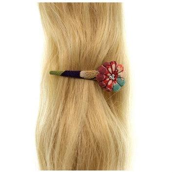 Annie Loto Sudios Jewelry Purple Pumpkin Blossom Clip Hair Accessory Style, 0.75 in. - 349A