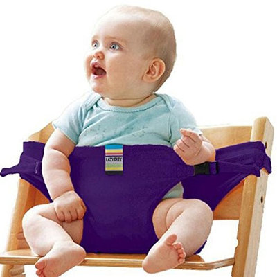 Gracelife Portable Chair Strap Baby Feeding Seat Belt Toddler Safety Harness Travel High Chair Booster, Pack with 1 Pacifier Clip for Free