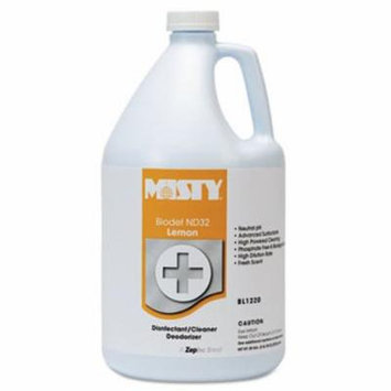 Misty BIODET ND-32 Disinfectant Cleaner, Lemon, 4 Gallons (AMR1038806)