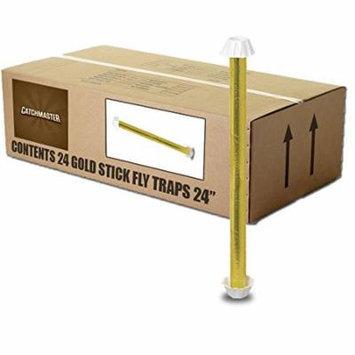 Catchmaster Gold Stick 962 Large 24 Fly Trap - 1 Case - 24 Fly Sticks