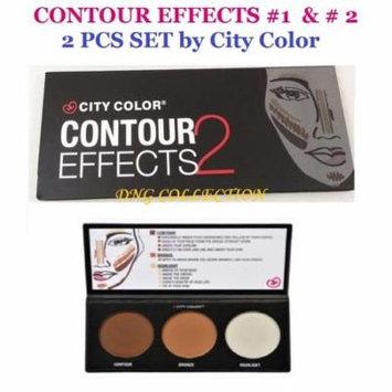LWS LA Wholesale Store 2 PCs SET City Color Contour Effects #1 & #2 Contour Bronze Highlight Palette
