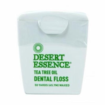 (3 pack) Desert Essence Tea Tree Oil Dental Floss, 50.0 YARDS