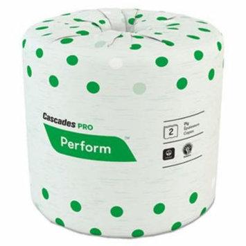 Cascades Standard 2-Ply Bathroom Tissue, White, 48 Rolls (CSDB340)