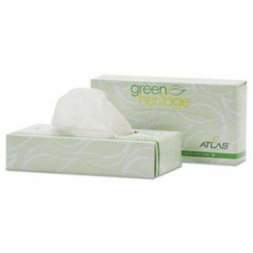 Atlas Green Heritage Facial Tissue, 2-Ply, White, 100/Box, 72 Boxes (APM072A)