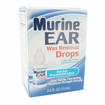 6 Pack Murine Ear Wax Removal Drops Maximum Strength 0.5 Oz Each