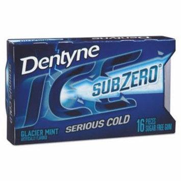 Dentyne Ice Sugarless Gum, Glacier Mint, 16 Pieces/Pack, 9 Packs/Box (CDB00866)