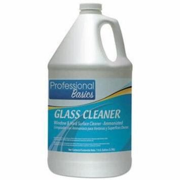 Professional Basics Glass Cleaner, 1 Gal Bottle, 4 Bottles (TOL505922)
