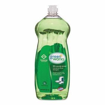 Green Works Pot & Pan Detergent, Natural Scent, 38 oz Bottle (CLO30381)
